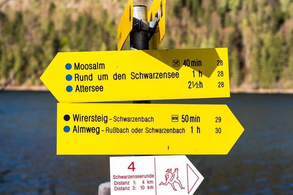 Wandermöglichkeiten am Schwarzensee