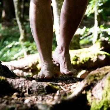Barfuß durch den Wald