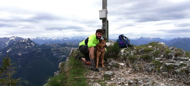 am Gipfelkreuz Gamskogel
