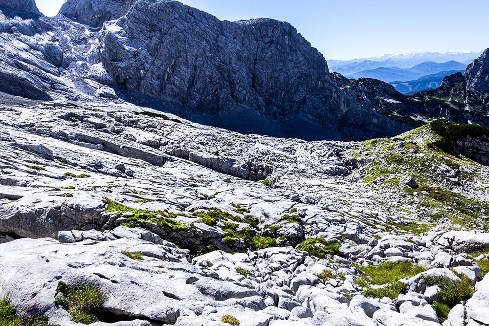 Felsige Landschaft am Dachsteingletscher