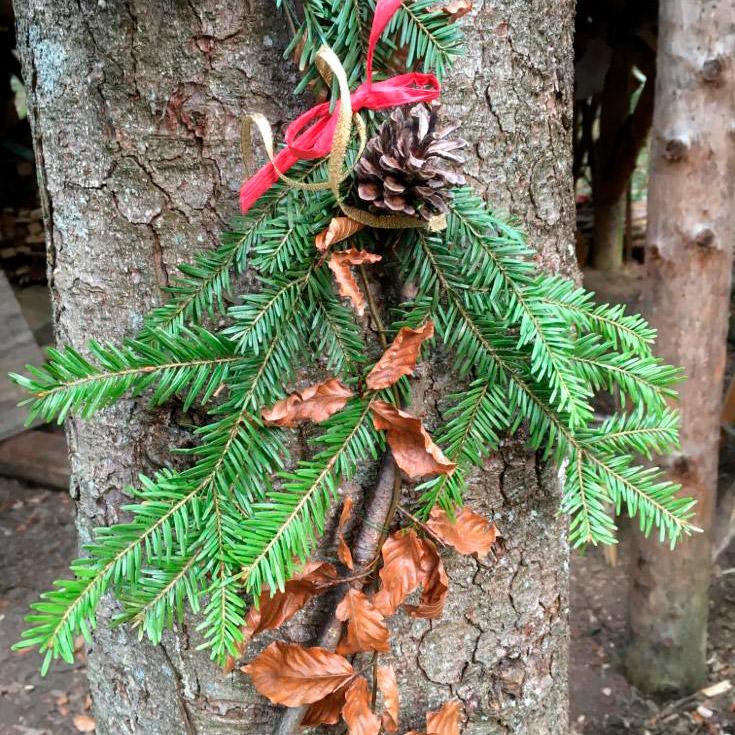 geschmückter Zweig
