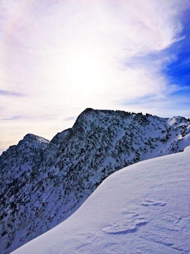 Blick auf den Gipfel.