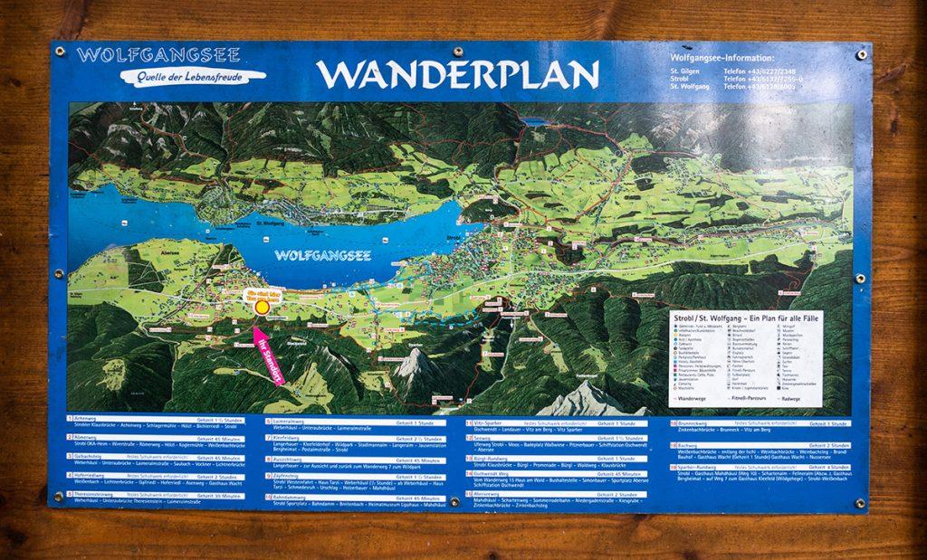 Wanderplan Wolfgangsee