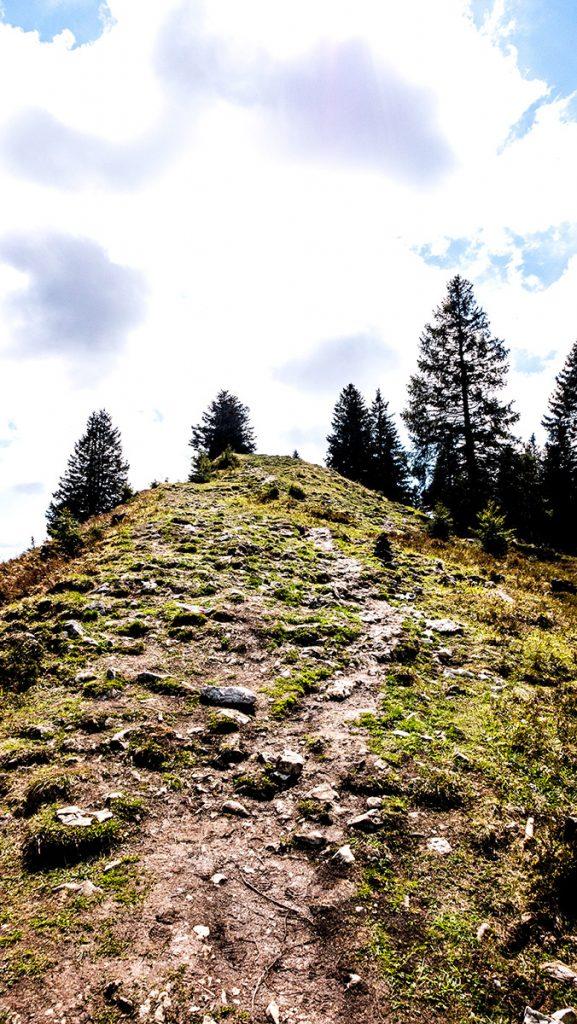 letzter Wegabschnitt vor dem Gipfel