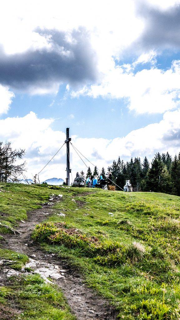 am Gipfel der Bleckwand auf 1.516 m