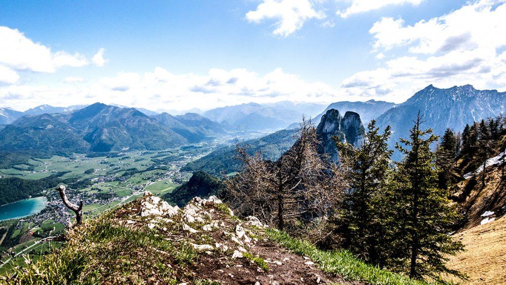 Aussicht vom Gipfel der Bleckwand auf 1.516 m