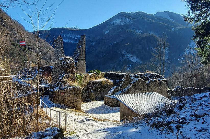Burgruine Scharnstein im Almtal
